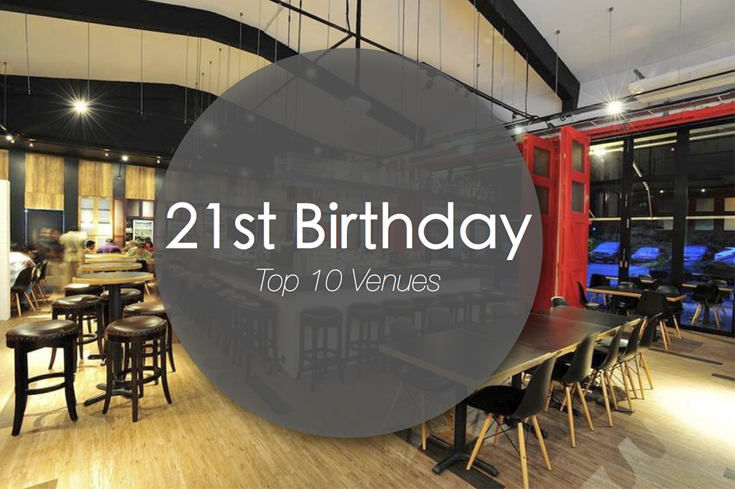 top 21st birthday party venues singapore