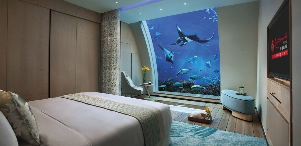 Ocean Suite RWS aquarium bedroom party spaces Singapore