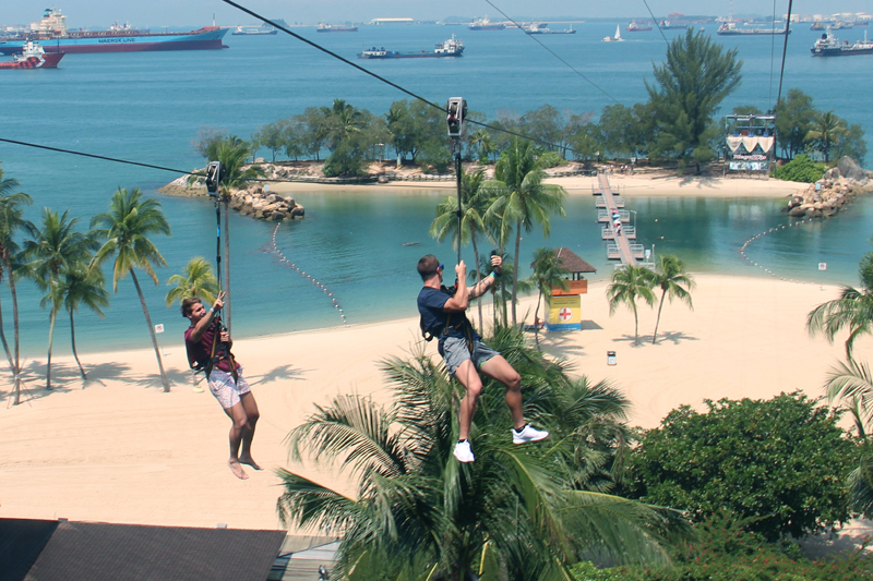 Sentosa Island corporate retreat venues Singapore 1 - Siloso Beach Mega Zip