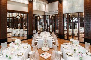 Saffron Ballroom with banquet setup