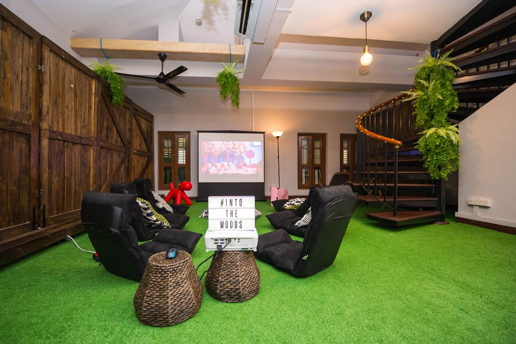 Into the Woods event function rooms for rent Singapore