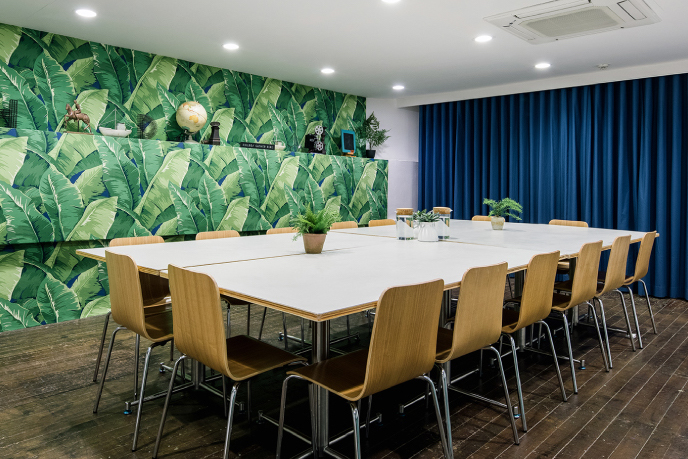The Working Capitol conference room for rent Singapore